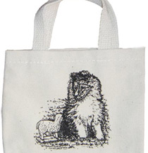 Mini Tote with Sheltie/Collie Puppy